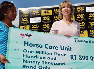 Big cheque for Horse Care